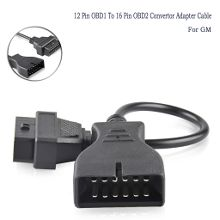 OBD2 Extension Cable 12 Pin to 16 Pin Female OBD1 OBDII Connector