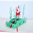 Pop Up Card,3D Greeting Card Christmas Deer Postcard for All Occasions - Happy Birthday, Graduation, Congratulations, Retirement, Fathers Day Christmas