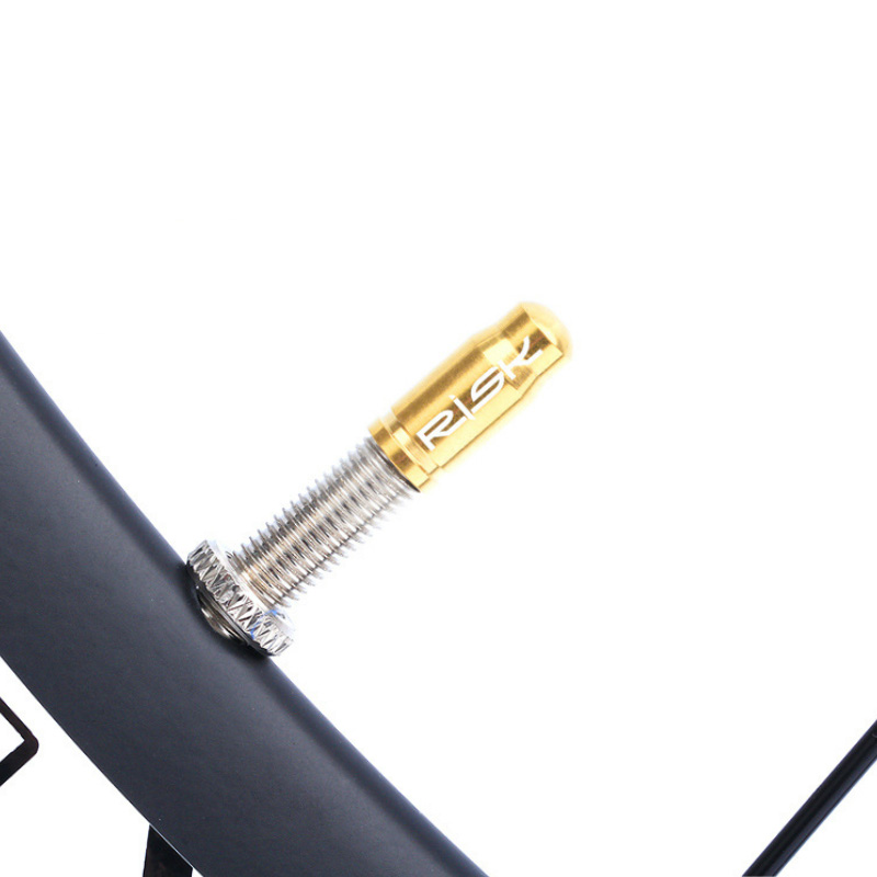 2pcs Gold Bicycle French Valve Stem Caps for Bike Wheel Dust Covers