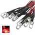 Factory Price 20 pcs 12V 20cm LED Pre wired 5mm red