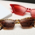?Garden Sunshine?@Vintage Sunglasses Women Cat Eye Luxury Sun Glasses Retro Small ladies Sunglass Black Eyewear S17077 red GD
