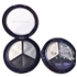Professional Smoky Cosmetic Set 3 Colors Natural Matte Eyeshadow Makeup Tools Palette Nude Eye Shadow Glitter #1 black + white + gray