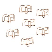Office & School Supplies Book Reading Paper Clips Metal Card File Note Clips For Office School Wedding Decoration Pack 12pcs