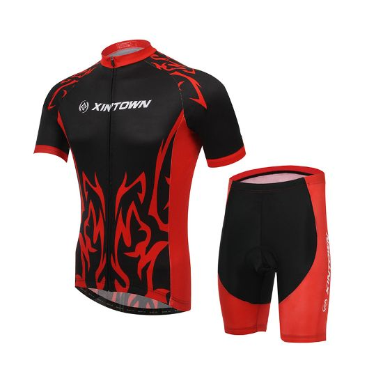 20e76a422 Men S Cycling Jersey Set Knights Bike Sets Bib Sports Outdoor Wear Wicking  Tight Fitness Clothes
