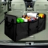 Auto Trunk Organizer,Collapsible Car Cargo Organizer with Cooling and Insulation Compartment for Car Organizing Shopping Camping Picnic and Long Trip,Sturdy and Flexible (Black)