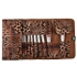 24pcs/set Women's Fashion Leopard Printing Soft Fur Cosmetic Brushes With Bag