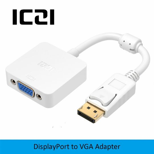 A//D DVI-I to VGA Male to Female Adapter Convert Cable for LCD Monitor HDTV