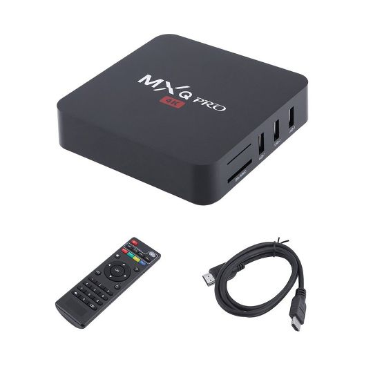 MXQ Pro 4K 3D 64Bit Android 7.1 Quad Core Smart TV Box 1080P WIFI Media Streamer