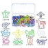 Multicolor Paper Clips Creative Animal Shape for Bookmark Office School Notebook Agenda Pad, 12 Stlyes, 60 Pieces