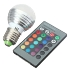 Factory Price 5X E27 3W RGB LED 16 Color Changing Lamp Light Bulb + IR Remote Control