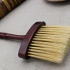 1Pcs Pro Wooden Handle Hair Cutting Hairdressing Stylist Salon Care Neck Duster Clean Broken Hair Brush Barbers Tools