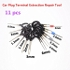 11Pcs/Set Terminal Removal Tools Car Electrical Cable Wiring Crimp Connector Pin Extractor Kit Car Repair Hand Tool Set Plug key