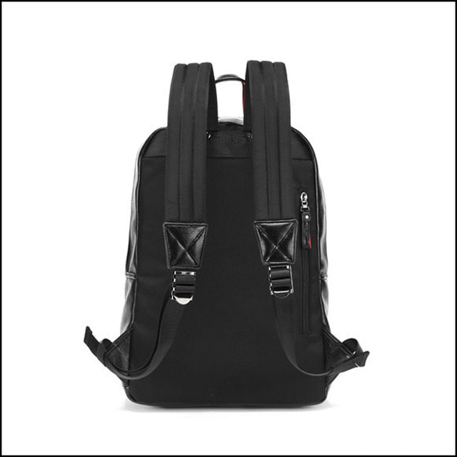 And Fashion Backpacks Leather Simple Men Unisex Women Backpacks ... fc8688130dca0