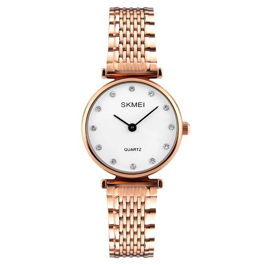 1da8199fd43 Best Choice SKMEI New Fashion Women Quartz Watches Casual Dress Girls  Wristwatches Rhinestones Waterproof Rose Gold