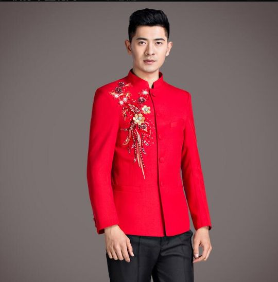 d29aad9c6d10 groom suits for men blazer boys prom mariage suits mens Chinese ...
