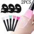 New Arrival Fashion 2 Pcs Facial Mud Mask Mixing Brush Silicone Make Up Brush Skin Face Care Beauty Makeup Tool