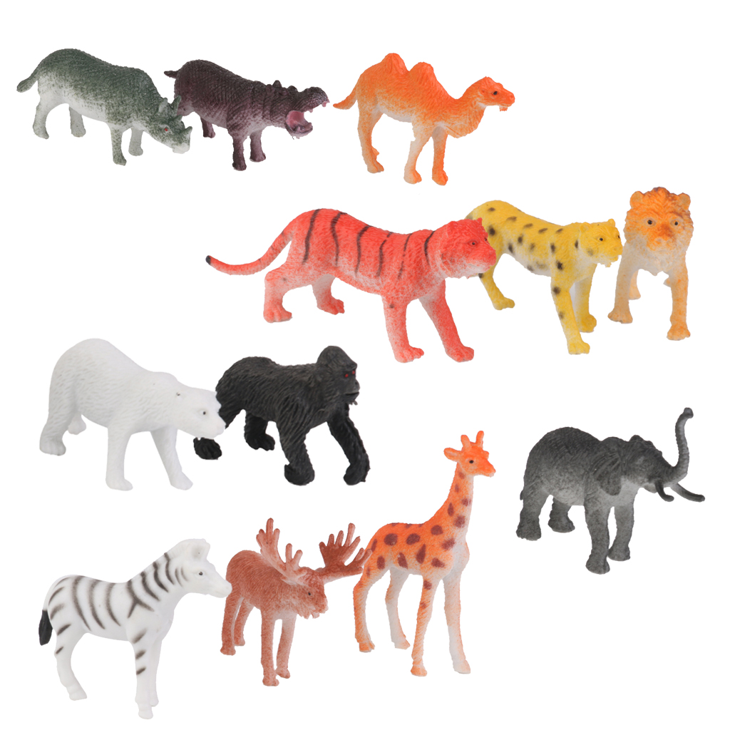 amazoncom animal figure8 inch jumbo jungle animal toy - HD 1024×1024