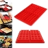 4-Cavity DIY Mini Waffles Cake Chocolate Pan Silicone Tray Mold Baking Mould Tool Red