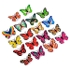5 PCS Creative Lamp Flashing Butterfly Night Light Wall Stickers Lamp LED Decorative Night Lights For Party Room Wedding Decorations(Random Color)
