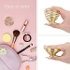 #Drop Shipping# 3 Pack Beauty Sponge Blender Holder Makeup Sponge Support, Drying Rack Egg Powder Puff Display Stand-Gold