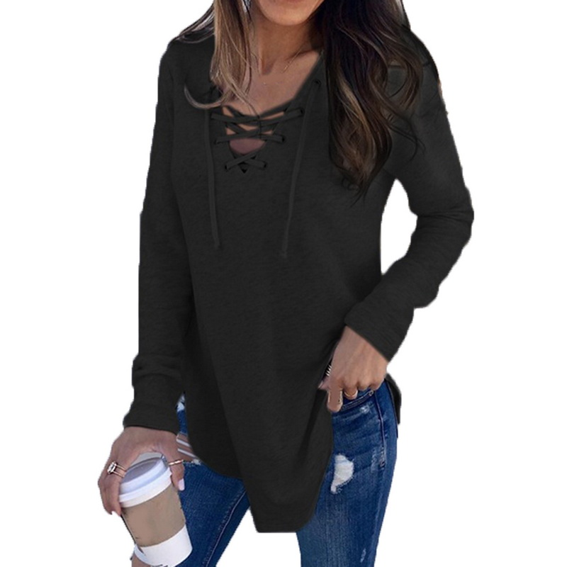Autumn and Winter Coat Fashion Sweater Pierced with Long Sleeved Top