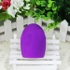 New Cleaning Glove MakeUp Washing Brush Scrubber Board Cosmetic Clean Tool Dark purple