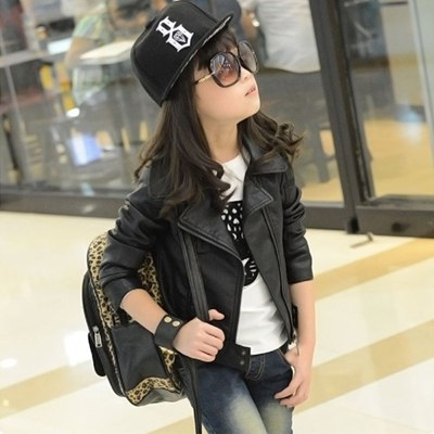 Clothes PU Leather Girls <b>Jackets Children</b> Outwear For <b>Baby</b> Girls ...