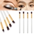 Fashionuooa 4Pcs Макияж Косметический инструмент Eyeshadow Powder Foundation Blending Brush Set GD