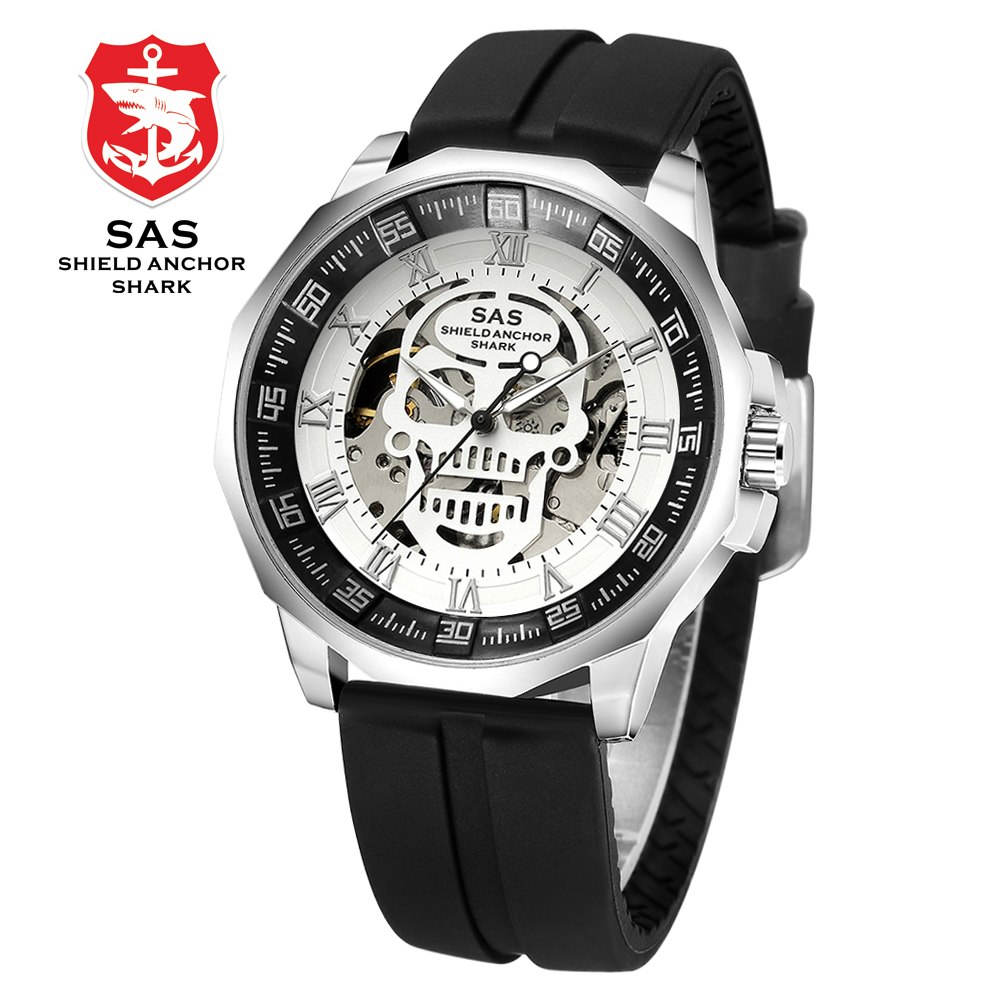 ... Skeleton Casual Watches High Quality Skull Mechanical Wrist watches. 2 /8